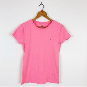 Tommy Hilfiger Cotton Basic Coral Tee with Logo